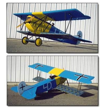 Bal409 Balsa Usa 1 4 Scale Fokker D Vii Kit Remote Controlled Hobby