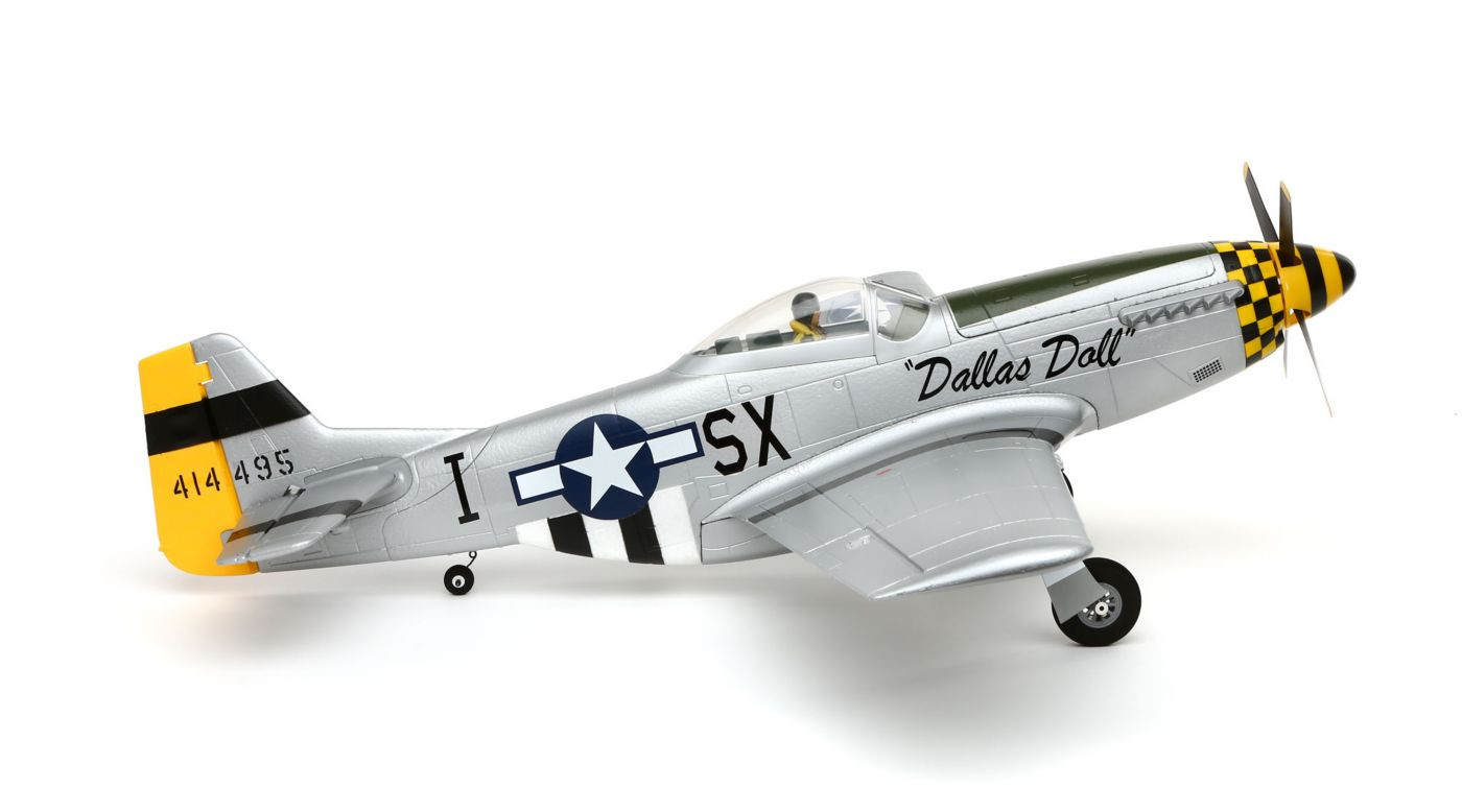 Efl6750 E Flite P 51d Mustang Bnf Basic With As3x