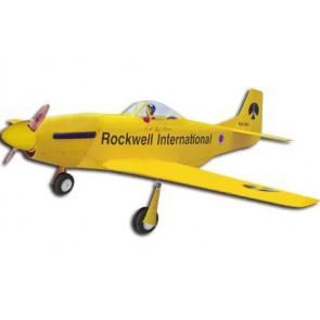 AirBorne Models P-51D Mustang G.S. S4 - Yellow
