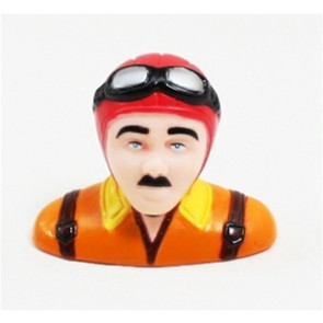 AIRBORNE MODESL PILOT STATUE 50mm tall, red/orange