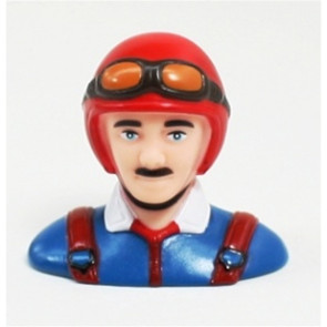 Airborne Models PILOT STATUE 63mm tall, red/blue