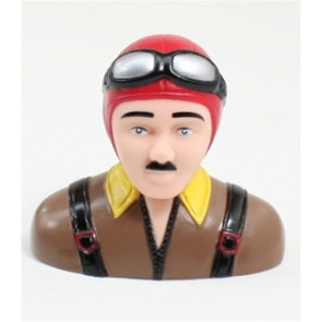 AIRBORNE MODELS PILOT STATUE 75mm tall, red/brown