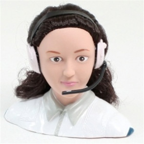 AIRBORNE MODELS 1/4 Scale Female Pilot, WHITE