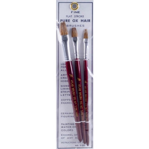 Atlas Brush Flat Ox Hair Set 3pc
