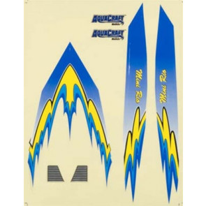 AquaCraft Decal Sheet Blue Mini Rio