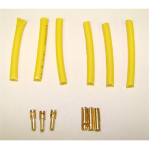 BP HOBBIES 1.5MM GOLD PLATED CONNECTOR SET 3MALE 3FEMALE