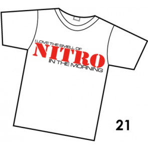 COMMON SENSE RC SMELL OF NITRO T-SHIRT, WHITE, XX-LARGE