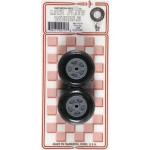 "Dave Brown Treaded Lite Flite Wheels 1-3/4"" (2)"