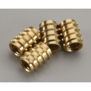 DUBRO 1/4-20 BRASS THREADED INSERTS (4)