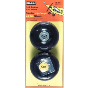 Dubro 1/4 Lightweight J-3 Cub Wheels (2)