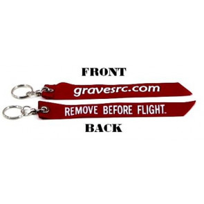 GRAVES RC HOBBIES REMOVE BEFORE FLIGHT KEY RING
