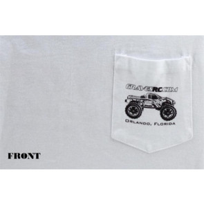 GRAVES RC CAR TEE SHIRT, WHITE-XL