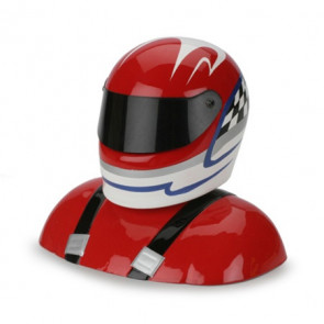 HAN368 HANGER 9 25-27% Painted Pilot Helmet Red/White/Blue