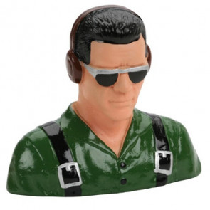 HANGER 9 1/5 Pilot, Civilian, w/Headphones & Sunglasses (Green)