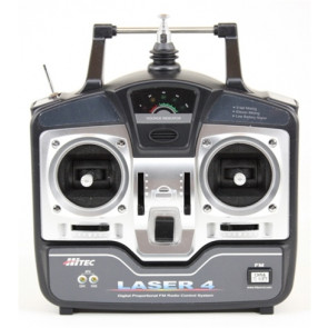 HITEC LASER4 4CH 555 TRANSMITTER WITH (3) HS-81