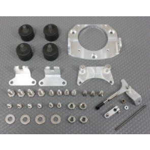 SPDZM-013 SPEEDMASTER Zenoah Motor Mount w/Throttle Kit and Coil Relocator Bracket
