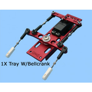 "SWB 1X Tray With 4"" Offset Bellcrank Kit FUTABA"