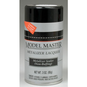 Testors Model Master Spray Metalizer No Buff Sealer 3oz