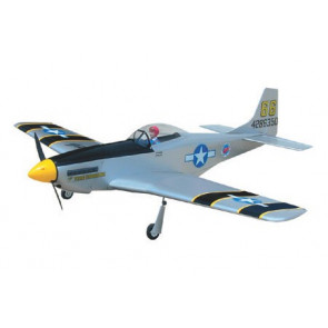 Airborne Models P-51 Mustang 40 ARF, Silver
