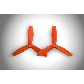 "Gemfan 5050BN 5"" x 5"" 3-Blade Glass Fiber Nylon Bullnose Propellers, Orange"