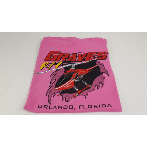 GRAVES RC HOBBIES Helicopter T-Shirt, Pink