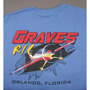 Graves RC Airplane T-Shirt Blue - Medium