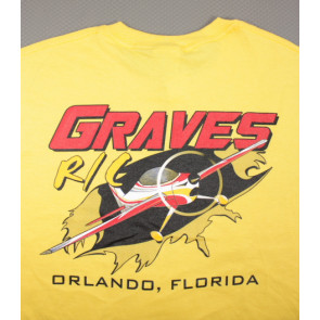 Graves RC Airplane T-shirt Yellow - XL