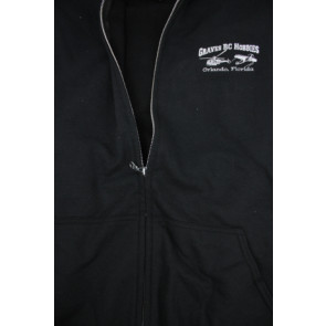 GRAVES RC HOBBIES Zip Up Hoodie, BLACK
