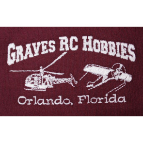 GRAVES RC HOBBIES Zip Up Hoodie, Red, Large