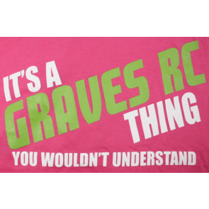 Graves RC Womens Tank Top Pink - Large