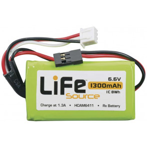 Hobbico LiFeSource LiFe 6.6V 1300mAh 1C Receiver U Battery