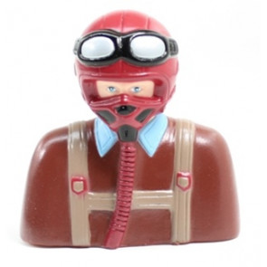 AIRBORNE MODELS Pilot Warbird Red/Brown 102mm