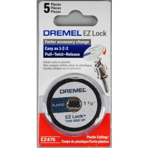 "Dremel EZ Lock Plastic Cut-off Wheel 1-1/2"" (5)"