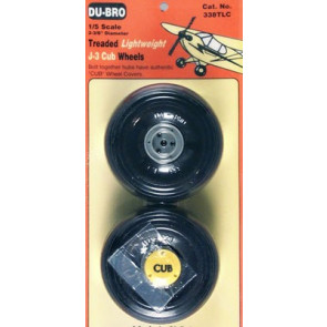 Dubro 1/5 Lightweight J-3 Cub Wheels (2)