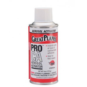 Great Planes Pro CA Foam Safe Aerosol Activator 4 oz