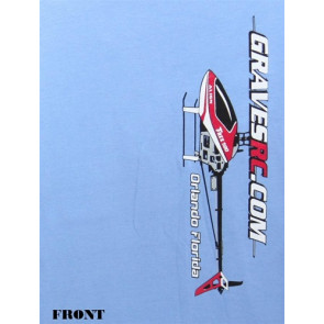 GRAVES R/C HOBBIES HELI T-SHIRT, BLUE, 3XL