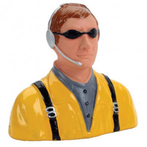 HANGER 9 1/7 Pilot, Civilian, with Headset, Mic And Sunglasses