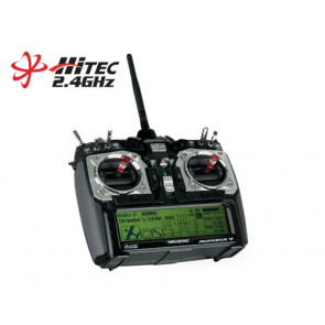 HITEC AURORA 9 2.4GHZ TRANSMITTER & OPTIMA 7 RX NO SERVOS