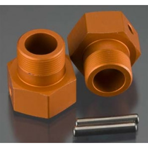 HPI Wheel Hex Hub 24x27mm Orange Baja (2)