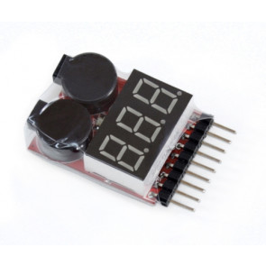IMEX Lipo Battery Voltage Tester DM-8S For Low Voltage Buzzer Alarm