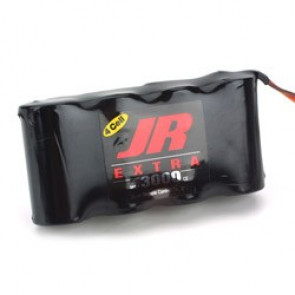 JR Extra Receiver Battery Pack 3000mAh 4.8V NiCd Flat
