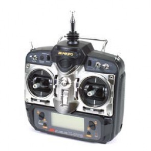 JR 7ch X-378 FM Helicopter Transmitter with (5) 537 Servos