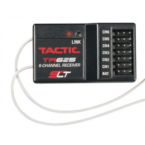 Tactic TR625 6-Channel 2.4GHz SLT Rx w/Twin Antennas