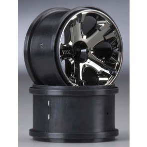 "Traxxas Wheels All-Star 2.8"" Nitro Front Black Chrome (2)"