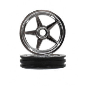 Traxxas Wheels 5-Spoke Chrome Front (2)