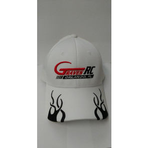 Graves RC Hat 2017 - Flames White