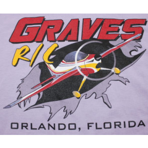 Graves RC Hobbies Airplane T-Shirt, Purple