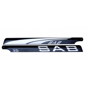 SAB 690mm Blackline carbon blades (White)
