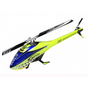 SAB Goblin 380 Flybarless Electric Helicopter Yellow/Blue Kit