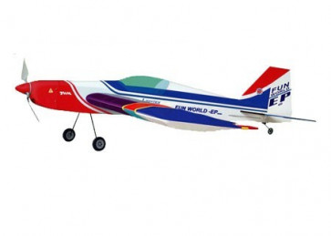 AIRBORNE MODELS FUN WORLD 400 EP BLUE (BRUSHED MOTOR)